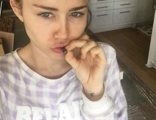Miley Cyrus Smokes on Instagram