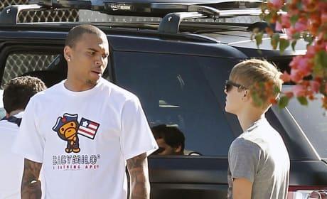 Chris Brown, Justin Bieber Pic