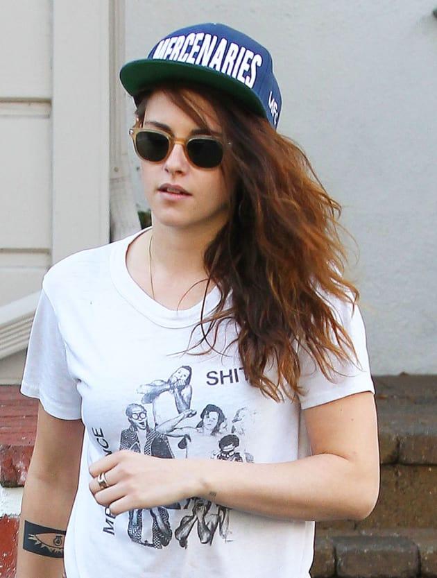 Kristen Stewart in a Cap